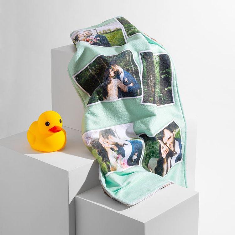Drap de bain personnalisé avec photos