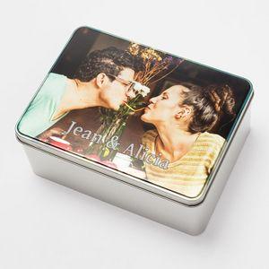 caja de galletas con fotos para mujeres