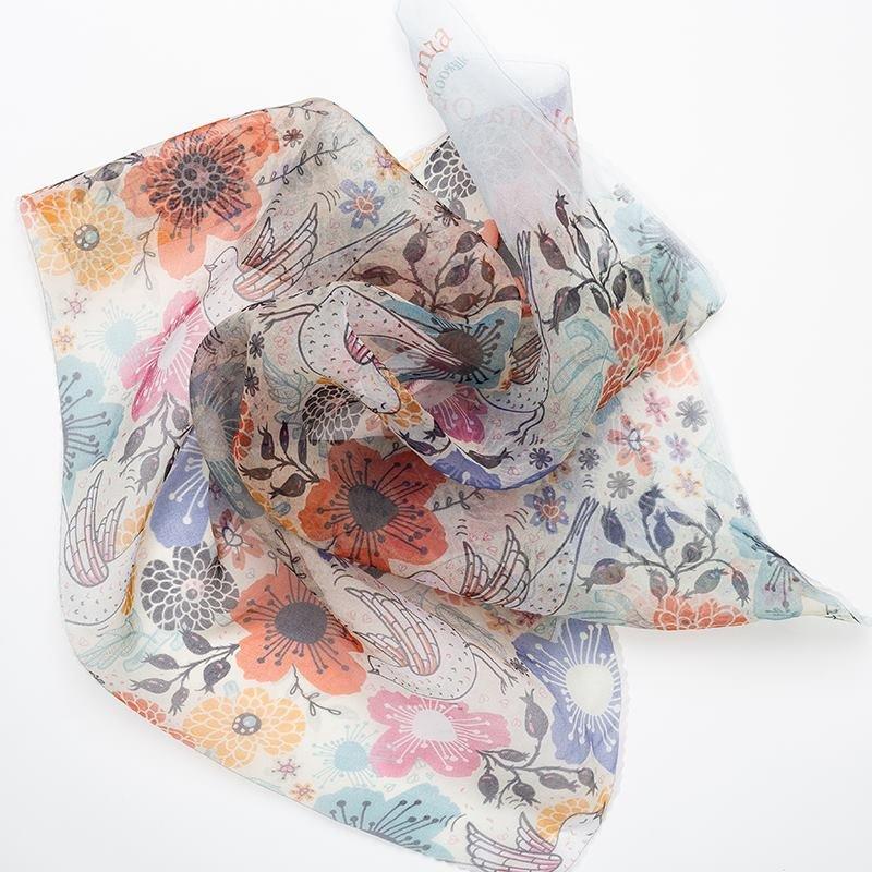 print on Organza fabric samples