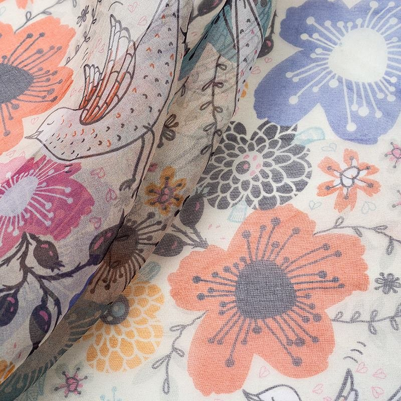 Organza digital print fabric no minimum