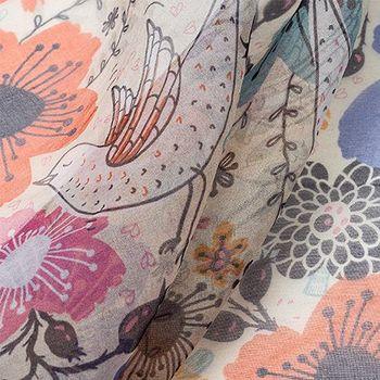organza mjuk textil med eget tryck