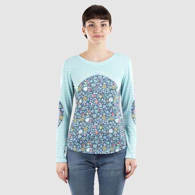 レディースプリント長袖Tシャツ