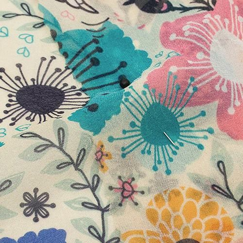 Silk Georgette Curtain Fabric