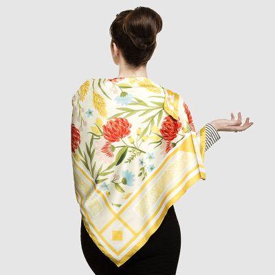 custom silk scarf