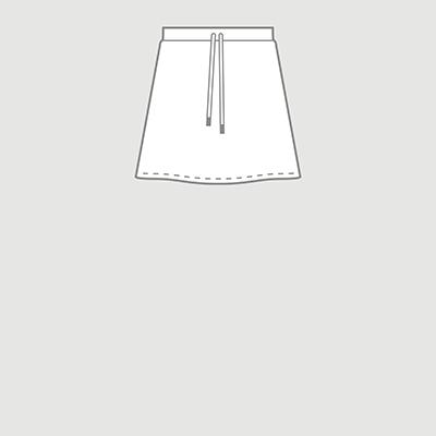 ミニ丈 デザインスカート