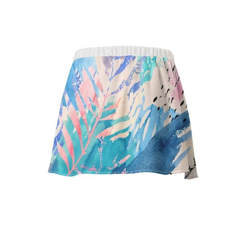 Jupe fluide imprimée avec votre design coloré