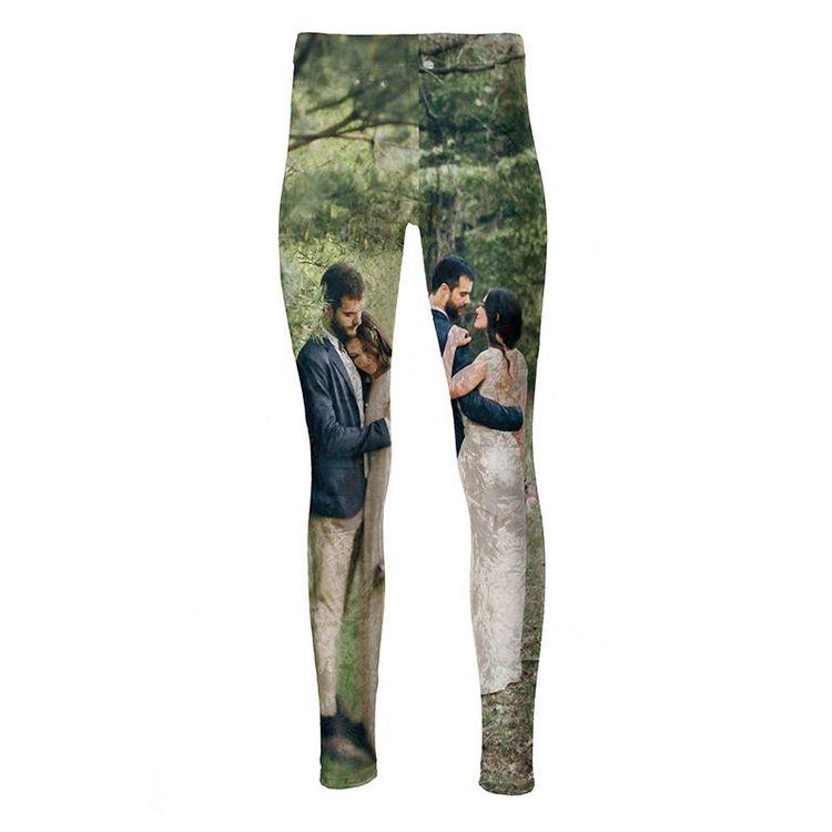 Bedrukte bruiloft leggings