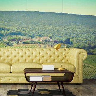 custom living room wallpaper