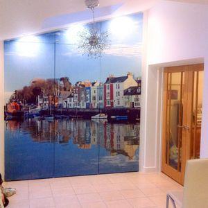 personalised waterproof bathroom wallpaper