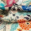 Tissu satin en polyester avec texture velours