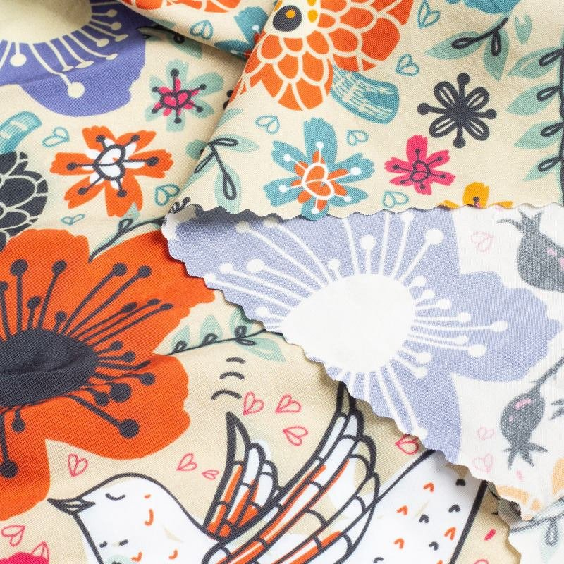 printing on Bamboo fabric pattern