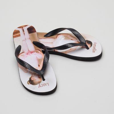 toddlers personalised flip flops