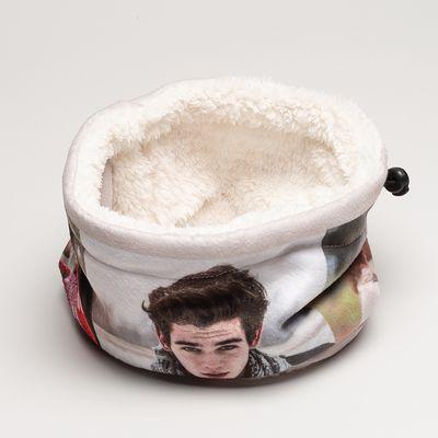 gepersonaliseerde ronde fleece sjaal