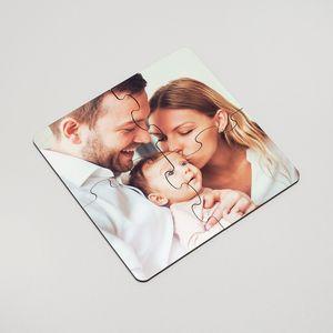 personalized photo jigsaw coaster