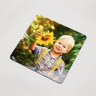 Personalised jigsaw coaster