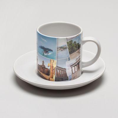 kop en schotel met fotoprint