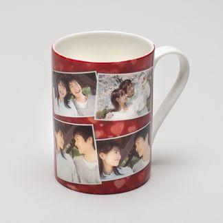 personalised collage mug bone china