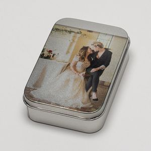 printed photo silver tins