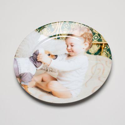 christening china plate