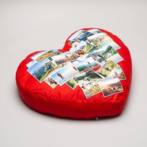 personalised big heart cushion
