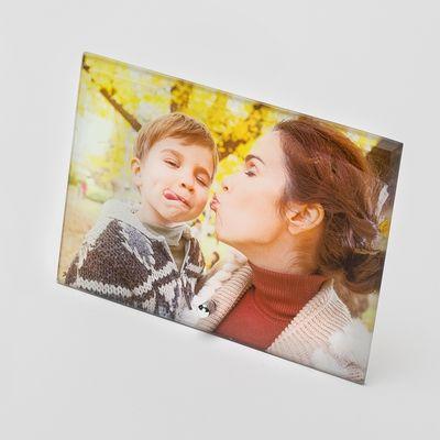 cadre photo sur verre
