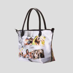 personalised zip top hadbag