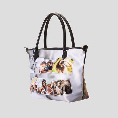 zip top handväska med eget foto