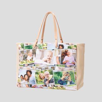 personalised collage handbag