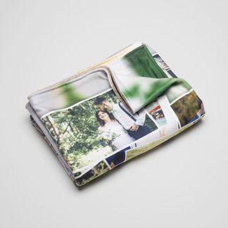 personalised collage blanket
