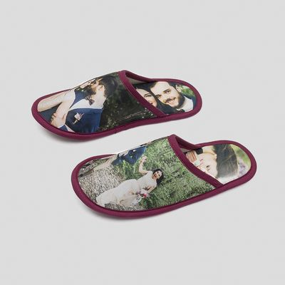 custom printed slippers