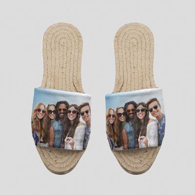 Personalised sandal espadrilles