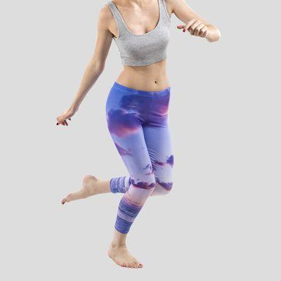 yoga leggings med eget tryck