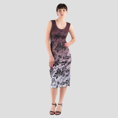 vestito smanicato stampato