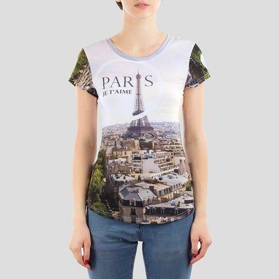 ladies custom short sleeved t shirt
