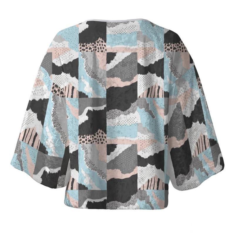 eigene design auf kimono blazer drucken lassen