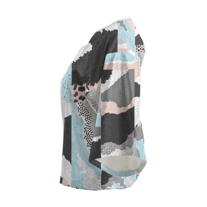 Veste kimono courte avec design