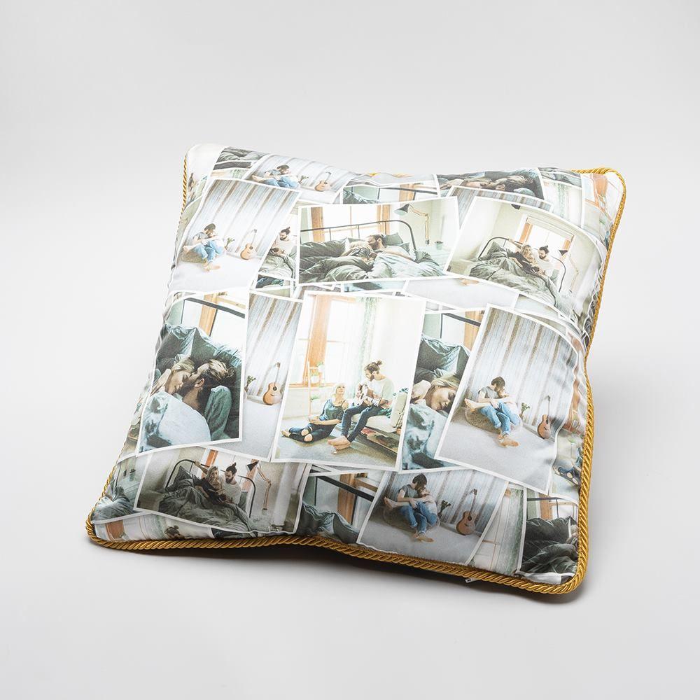 custom silk pillow