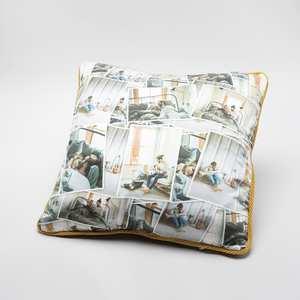 personalised silk cushion