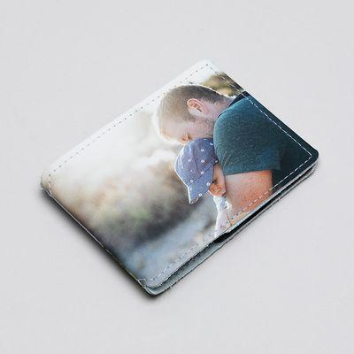 funda de piel para tarjetas personalizada