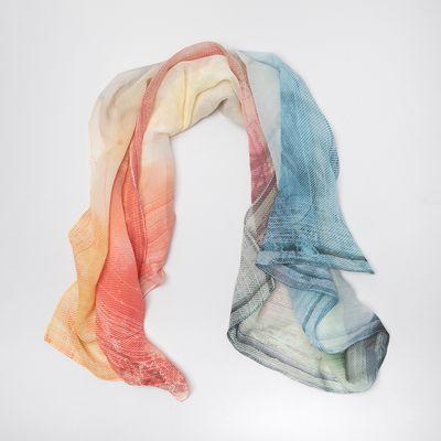 personalised chiffon scarf
