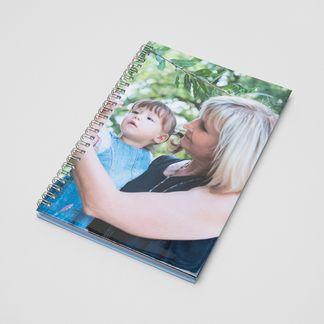 personalised spiral notebook