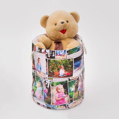 spielzeugsack bedruckt mit fotocollage als geschenk für babys