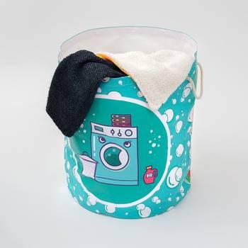 Wäschesack bedruckt mit collage als geschenk für paare