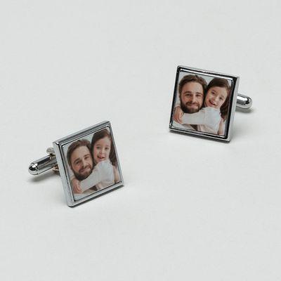 gemelos personalizados con fotografias regalo personalizalbe de hombre