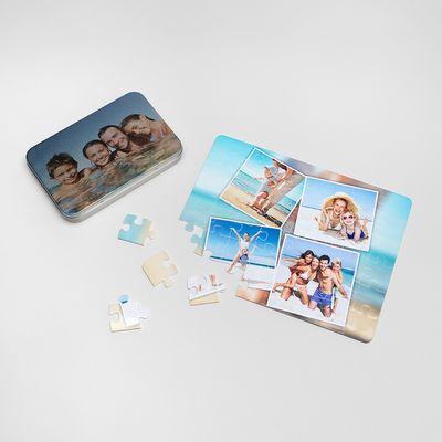 Plastic personalized puzzles