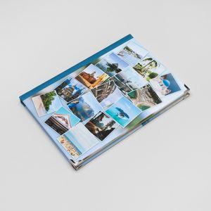 notizbuch collage mit fotos