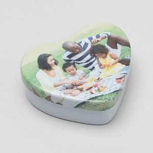 personalised sweet heart tin