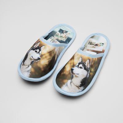 pantoffels met hondenfoto