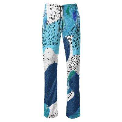 custom wide leg trousers