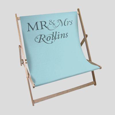 gepersonaliseerd trouwcadeau dubbele strandstoel